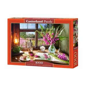 "Castorland (C-104345) - ""Still Life With Violet Snapdragons"" - 1000 piezas"