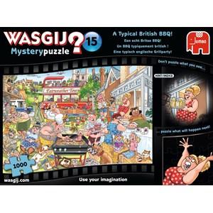 "Jumbo (19163) - ""Wasgij Mystery 15 - A Typical British BBQ!"" - 1000 piezas"