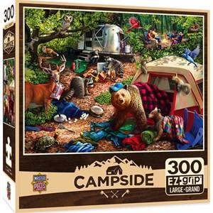 "MasterPieces (31997) - Larry Jones: ""Campsite Trouble"" - 300 piezas"