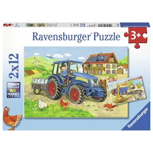 """Ravensburger (07616) - """"Construction Site and Farm"""" - 12 piezas"""
