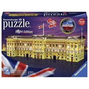 "Ravensburger (12529) - ""Buckingham Palace by Night"" - 216 piezas"