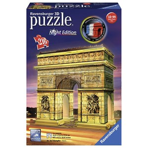 "Ravensburger (12522) - ""Arch of Triumph at Night"" - 216 piezas"