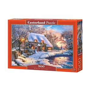 "Castorland (B-53278) - ""Winter Cottage"" - 500 piezas"