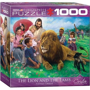 "Eurographics (8000-0345) - Nathan Greene: ""The Lion and the Lamb"" - 1000 piezas"