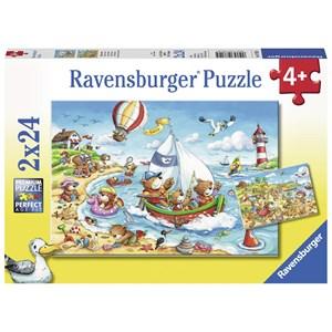 """Ravensburger (07829) - """"Holidays at the Sea"""" - 24 piezas"""
