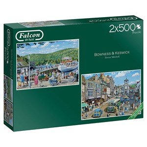 "Falcon (11238) - Trevor Mitchell: ""Bowness and Keswick"" - 500 piezas"