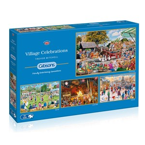 "Gibsons (G5051) - Trevor Mitchell: ""Village Celebrations"" - 500 piezas"