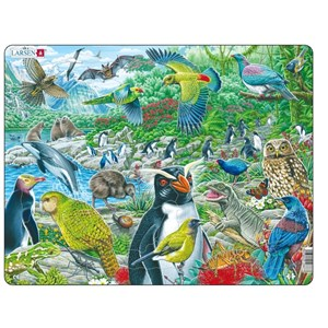 "Larsen (FH44) - ""New Zealand's Picturesque Wildlife"" - 53 piezas"