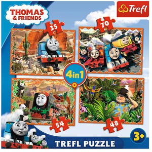 "Trefl (34300) - ""Travels around the world"" - 35 48 54 70 piezas"