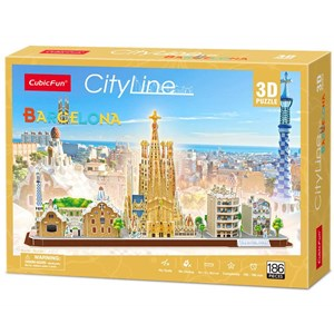 """Cubic Fun (MC256h) - """"Barcelona"""" - 186 piezas"""