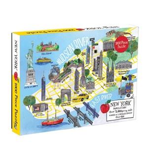 "Chronicle Books / Galison (9780735354265) - ""New York City Map"" - 1000 piezas"