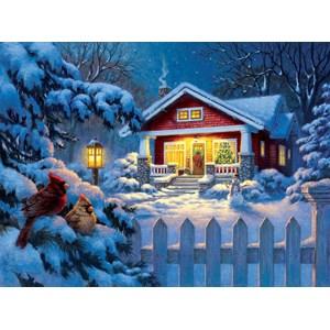 """SunsOut (55989) - Corbert Gauthier: """"Christmas Bungalow"""" - 1000 piezas"""