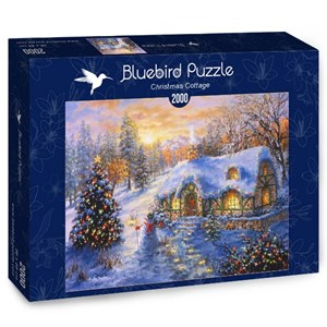 "Bluebird Puzzle (70065) - Nicky Boehme: ""Christmas Cottage"" - 2000 piezas"