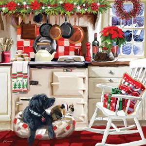 "Otter House Puzzle (74138) - Richard Macneil: ""Christmas Kitchen"" - 1000 piezas"