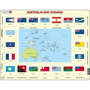 """Larsen (KL5-GB) - """"Australia and Oceania"""" - 35 piezas"""