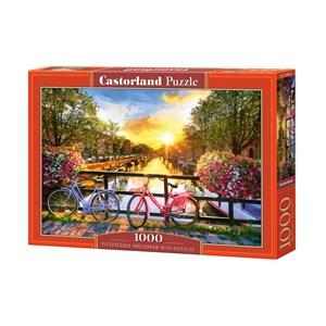 "Castorland (C-104536) - ""Picturesque Amsterdam With Bicycles"" - 1000 piezas"