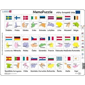 "Larsen (GP2-CZ) - ""Names, Flags and Capitals of 27 EU Member States - CZ"" - 54 piezas"