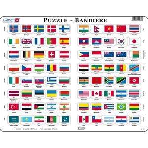 """Larsen (L2-IT) - """"Flag-Puzzle"""" - 80 piezas"""
