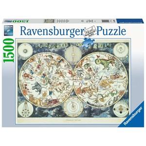 "Ravensburger (16003) - ""World Map of Fantastic Beasts"" - 1500 piezas"