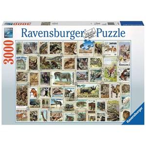 "Ravensburger (17079) - ""Animal Stamps"" - 3000 piezas"