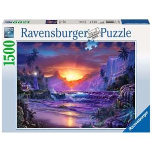 "Ravensburger (16359) - Christian Riese Lassen: ""Sunrise in Paradise"" - 1500 piezas"