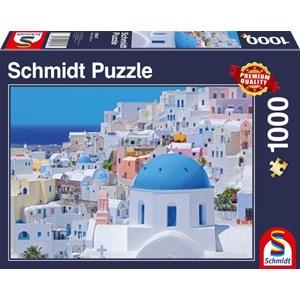 """Schmidt Spiele (58947) - """"Santorini"""" - 1000 piezas"""