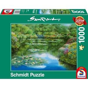 """Schmidt Spiele (59657) - Sam Park: """"Water Lily Pond"""" - 1000 piezas"""