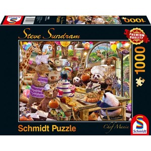 "Schmidt Spiele (59663) - Steve Sundram: ""Chef Mania"" - 1000 piezas"