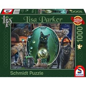 """Schmidt Spiele (59665) - Lisa Parker: """"Magical Cats"""" - 1000 piezas"""
