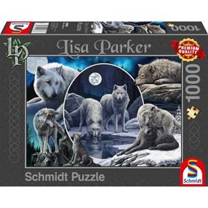 """Schmidt Spiele (59666) - Lisa Parker: """"Magnificent Wolves"""" - 1000 piezas"""