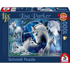 """Schmidt Spiele (59668) - Lisa Parker: """"Charming Unicorns"""" - 1000 piezas"""