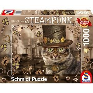 """Schmidt Spiele (59644) - Markus Binz: """"Steampunk Cat"""" - 1000 piezas"""