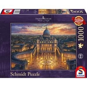 "Schmidt Spiele (59628) - Thomas Kinkade: ""Vatican Sunset"" - 1000 piezas"
