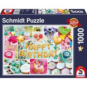 "Schmidt Spiele (58379) - ""Happy Birthday"" - 1000 piezas"