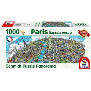"Schmidt Spiele (59597) - Hartwig Braun: ""Paris Cityscape"" - 1000 piezas"
