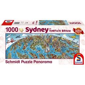 """Schmidt Spiele (59595) - Hartwig Braun: """"Sidney Cityscape"""" - 1000 piezas"""