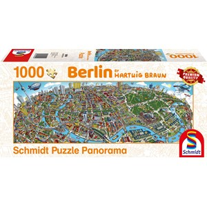 "Schmidt Spiele (59594) - Hartwig Braun: ""Berlin Cityscape"" - 1000 piezas"