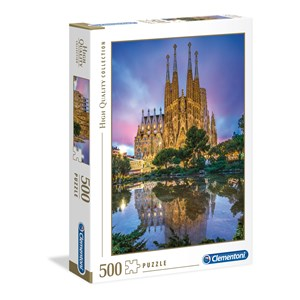 """Clementoni (35062) - """"La Sagrada Familia, Barcelona, Spain"""" - 500 piezas"""
