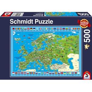 "Schmidt Spiele (58373) - ""Discover Europe"" - 500 piezas"