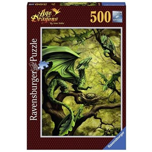 """Ravensburger (14789) - Ann Stookey: """"Forest Dragon"""" - 500 piezas"""