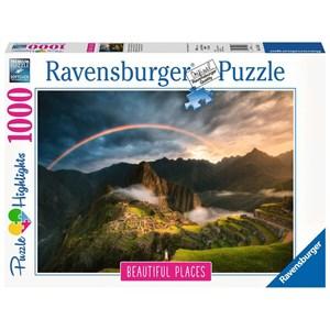 """Ravensburger (15158) - """"Rainbow over Machu Picchu, Peru"""" - 1000 piezas"""