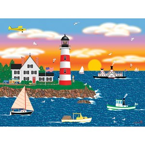 "SunsOut (22619) - Mark Frost: ""Triangle Point Lighthouse"" - 1000 piezas"