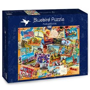 "Bluebird Puzzle (70309) - ""Postcard, USA"" - 1000 piezas"