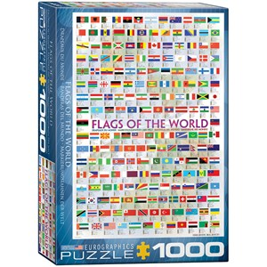 "Eurographics (6000-0128) - ""Flags of the World"" - 1000 piezas"