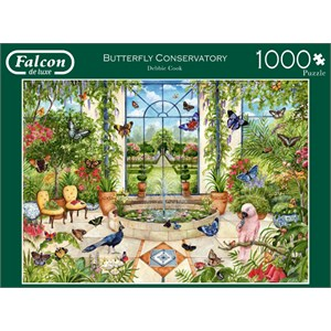 "Falcon (11255) - Debbie Cook: ""Butterfly Conservatory"" - 1000 piezas"