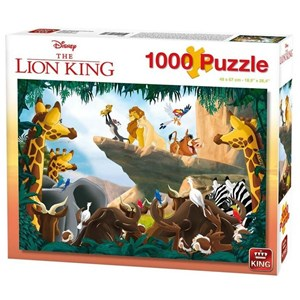 "King International (55830) - ""Disney, The Lion King"" - 1000 piezas"