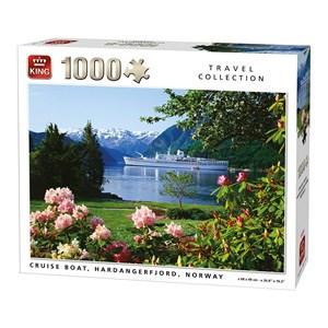 """King International (05715) - """"Cruise Boat, Hardangerfjord, Norway"""" - 1000 piezas"""