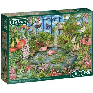 """Falcon (11295) - Debbie Cook: """"Tropical Conservatory"""" - 1000 piezas"""