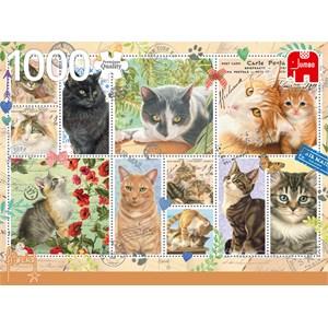 """Jumbo (18813) - Francien van Westering: """"Cat Stamps"""" - 1000 piezas"""