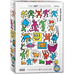 "Eurographics (6000-5513) - Keith Haring: ""Collage"" - 1000 piezas"